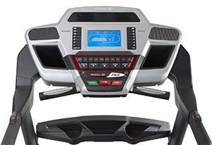 Sole Fitness F65 Display features cooling fans and MP3-compatible sound system